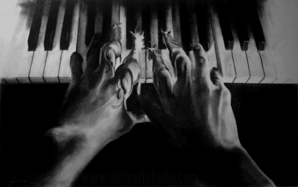 40 Beautiful Illustrations Of Charcoal Painting - Bored Art