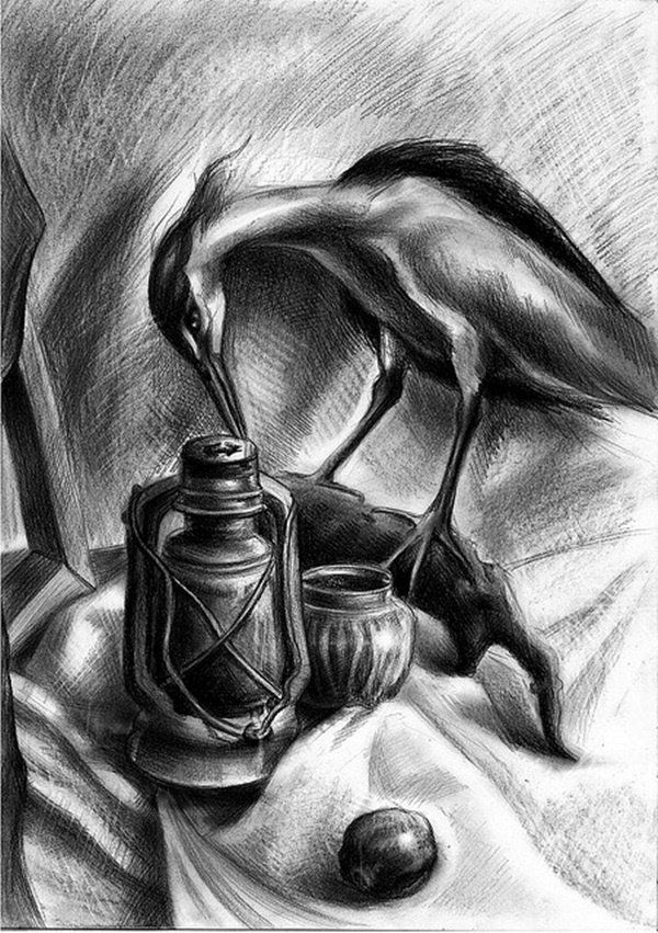Tabla - Musical Instrument - Charcoal Drawing Painting by ... |Charcoal Art Drawings Music