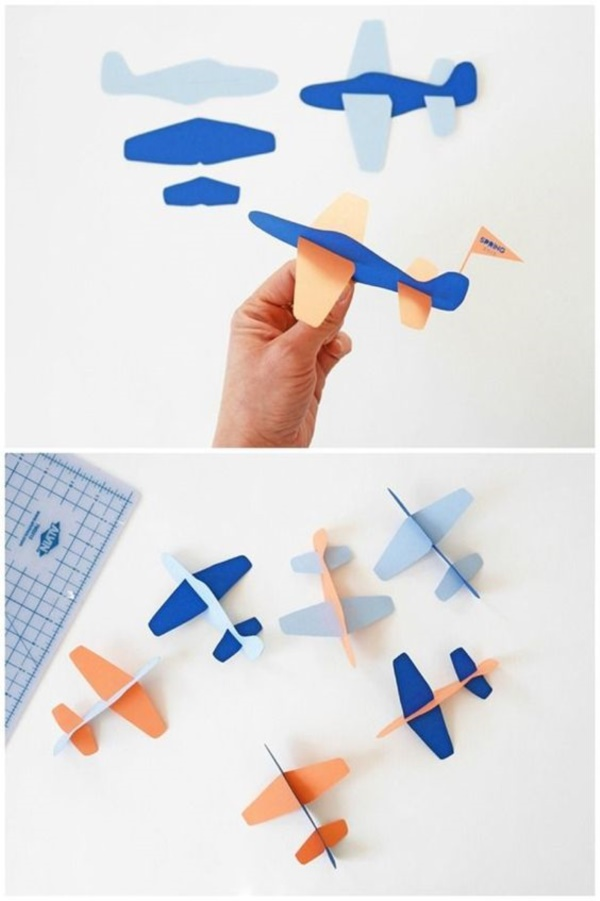 40 beautiful illustrations of paper toy art bored art for Airplane crafts for toddlers