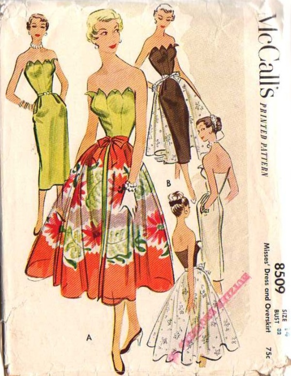 40 vintage sewing pattern for bored