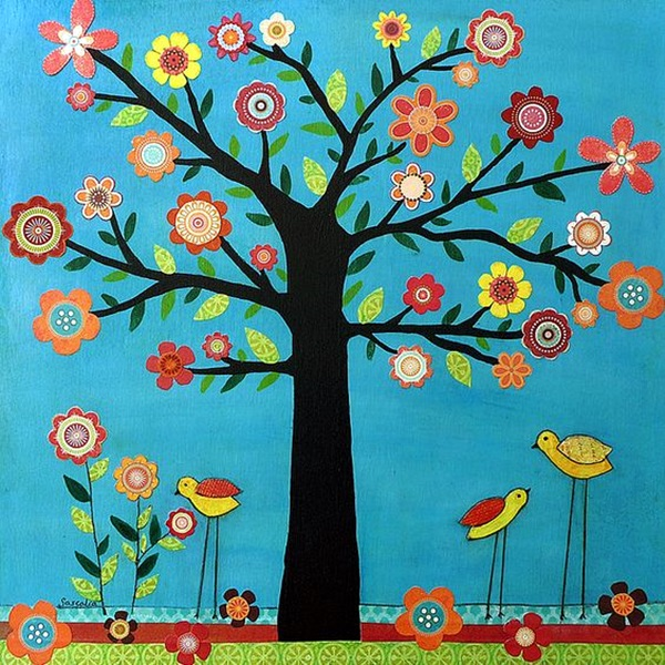 DIY Mixed Media Tree Art Projects (1)