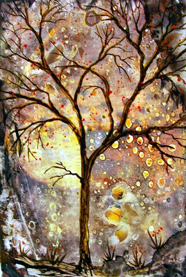 DIY Mixed Media Tree Art Projects (21)