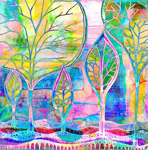 DIY Mixed Media Tree Art Projects (30)