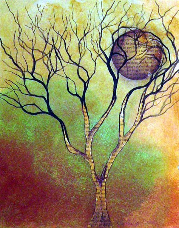DIY Mixed Media Tree Art Projects (34)