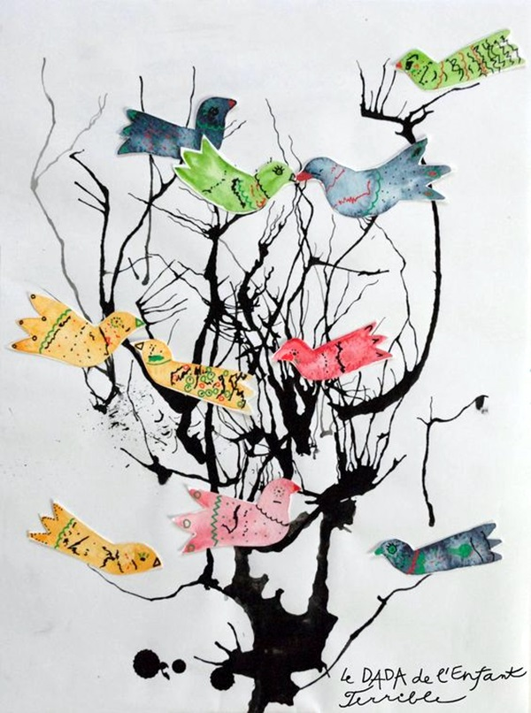 DIY Mixed Media Tree Art Projects (36)