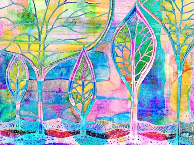 DIY Mixed Media Tree Art Projects