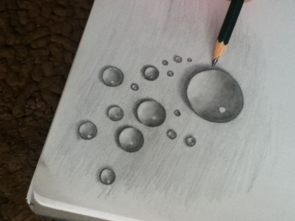 40 Realistic Water Drops Drawings And Tutorials