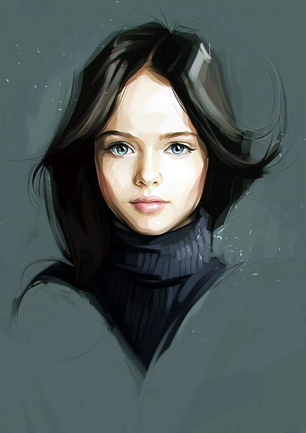 40 Spectacular Digital Painting Portraits
