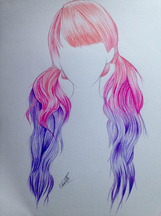 hair drawing 10