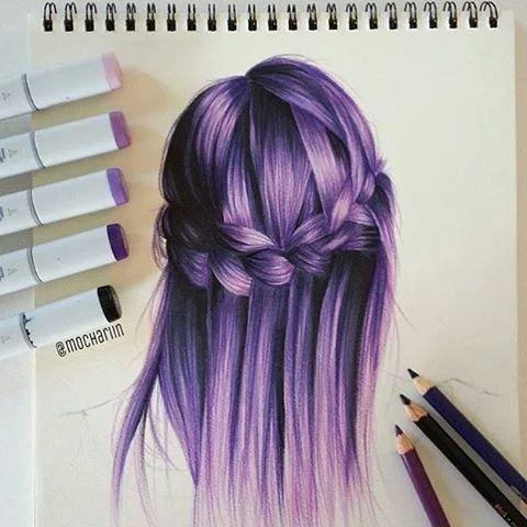 hair drawing 13