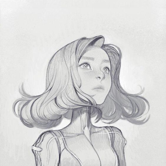 hair drawing 14