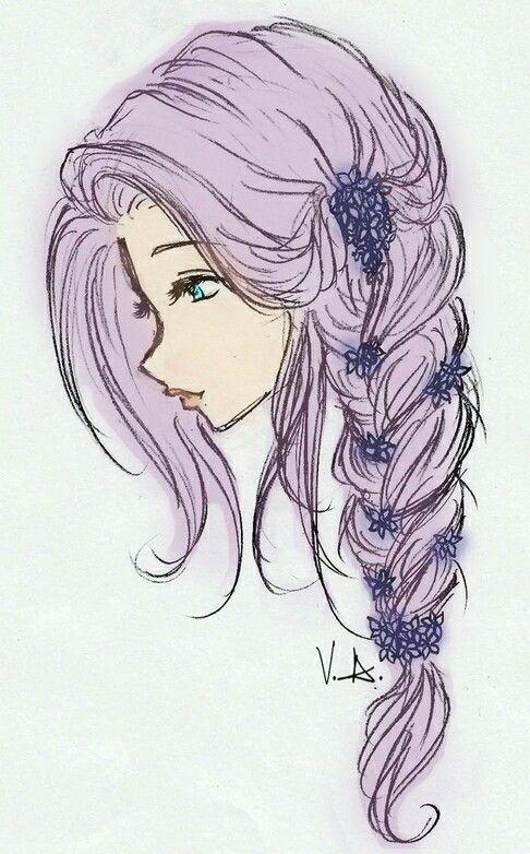 hair drawing 19