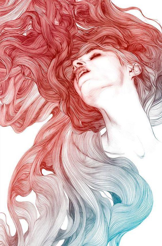 hair drawing 4