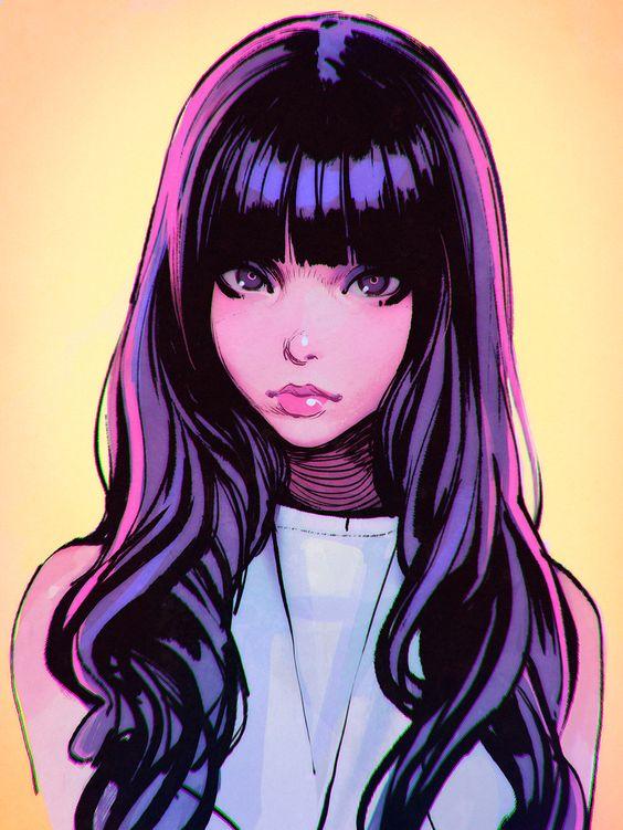 hair drawing 7