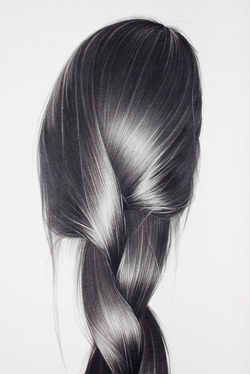 hair drawing 8