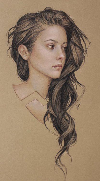 hair drawing 9