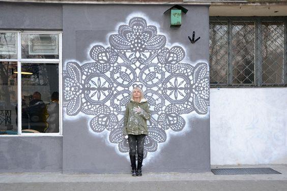 lace street art 10