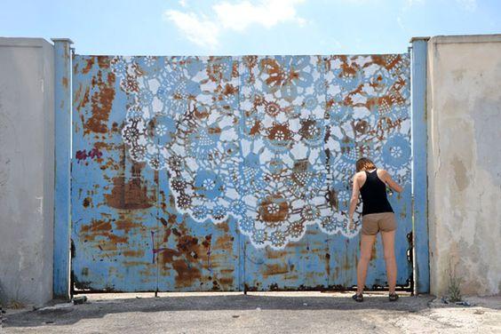 lace street art 18