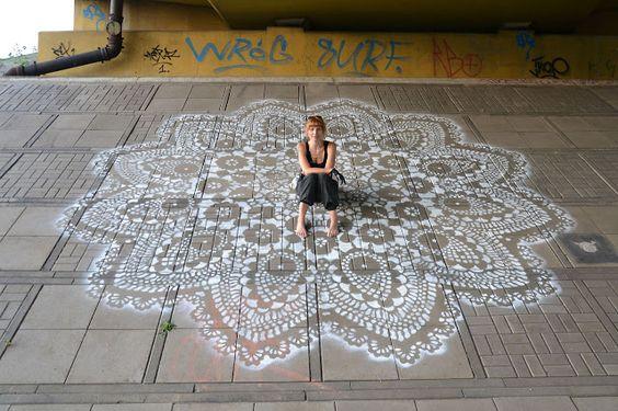 lace street art 7