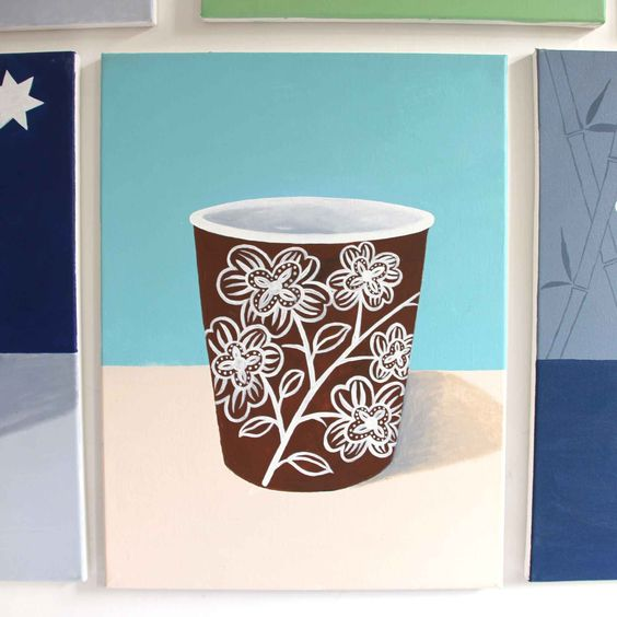paper cup painting 16