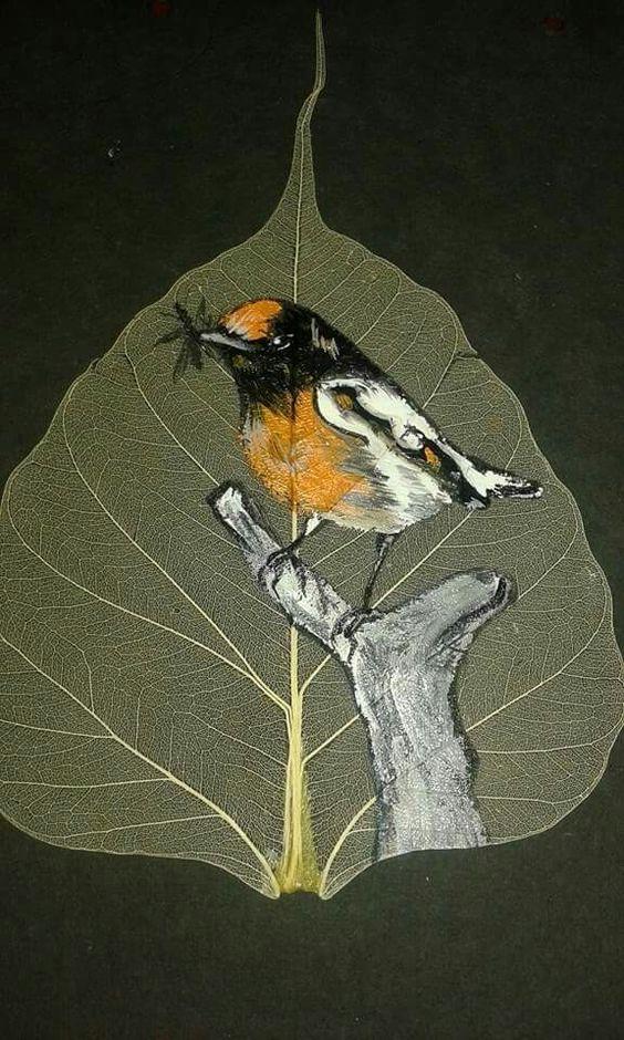 peepal leaf art 1