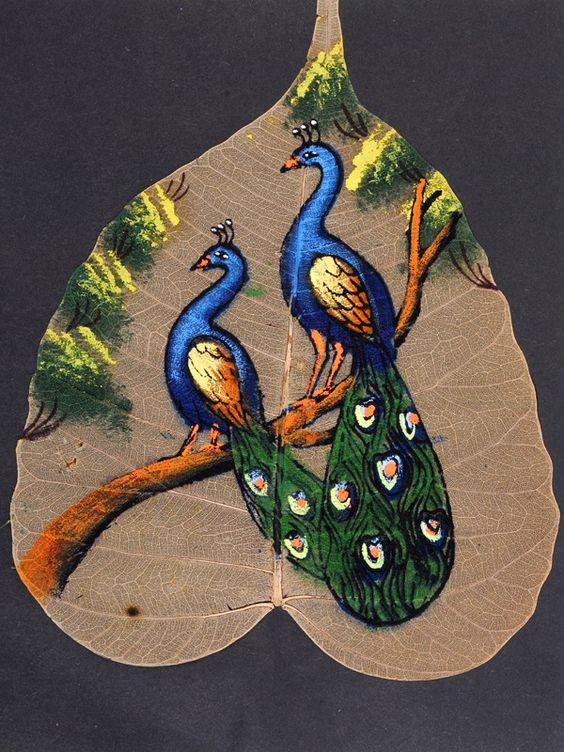 peepal leaf art 11