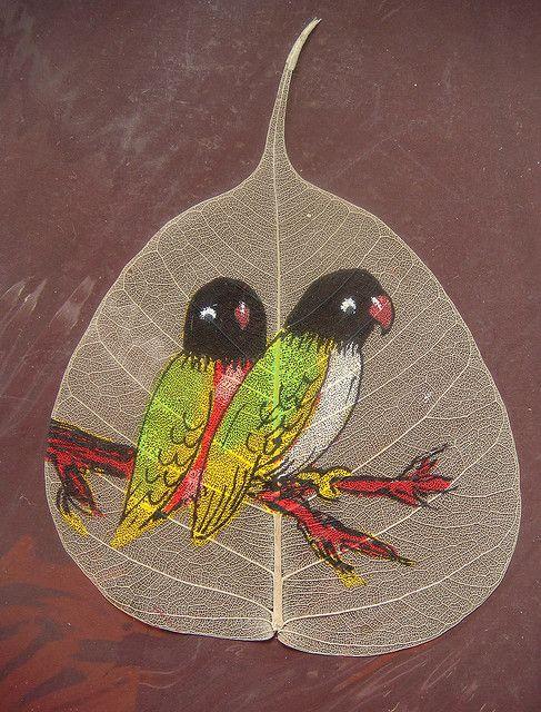 peepal leaf art 14