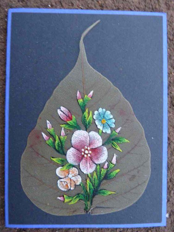peepal leaf art 16