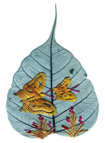 peepal leaf art 18