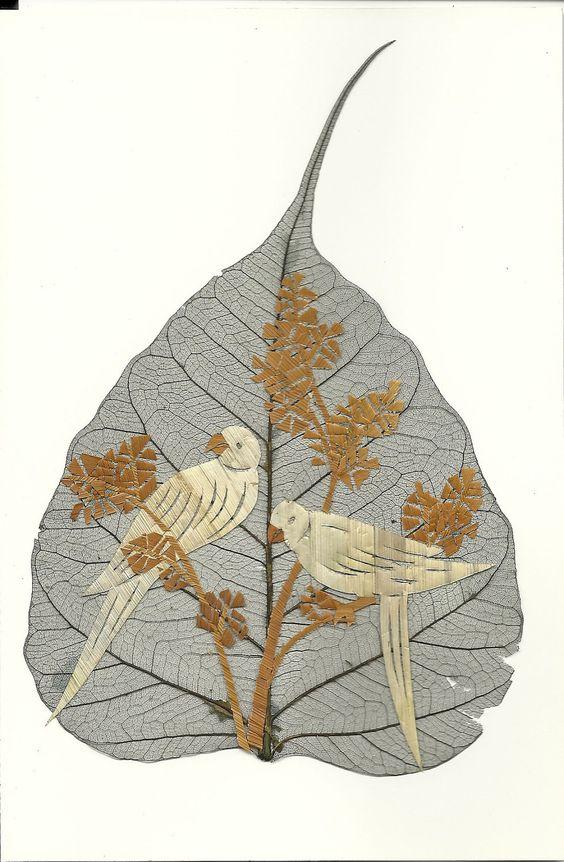 peepal leaf art 2