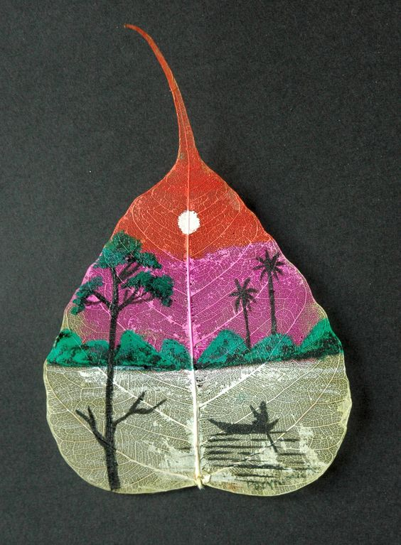 peepal leaf art 20