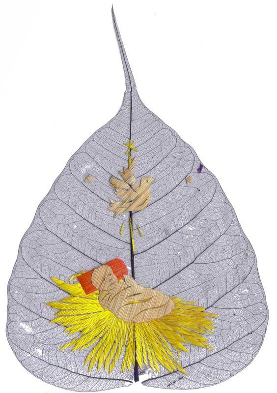 peepal leaf art 22