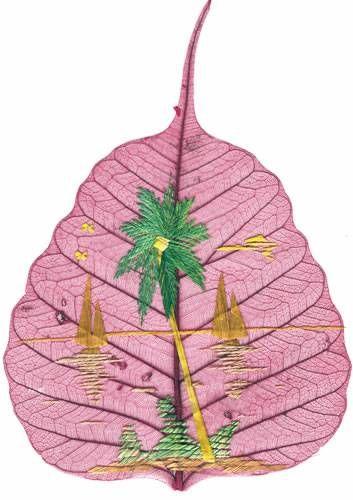 peepal leaf art 26