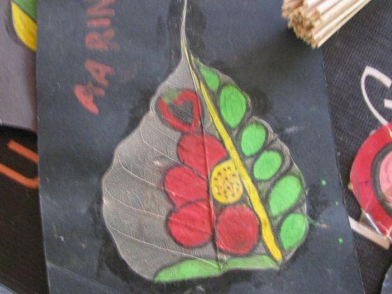 peepal leaf art 6