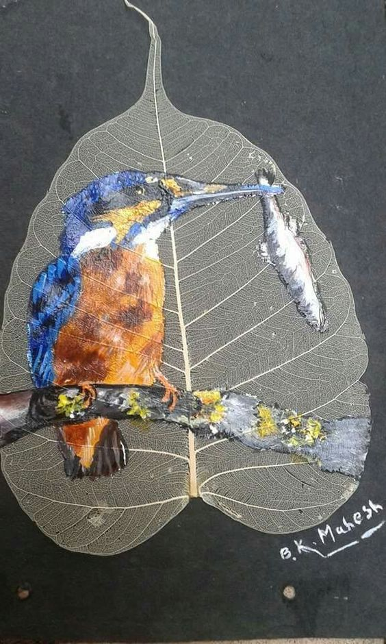peepal leaf art 9