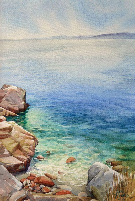 Beautiful Watercolor paintings by Artist Awaisha Miller