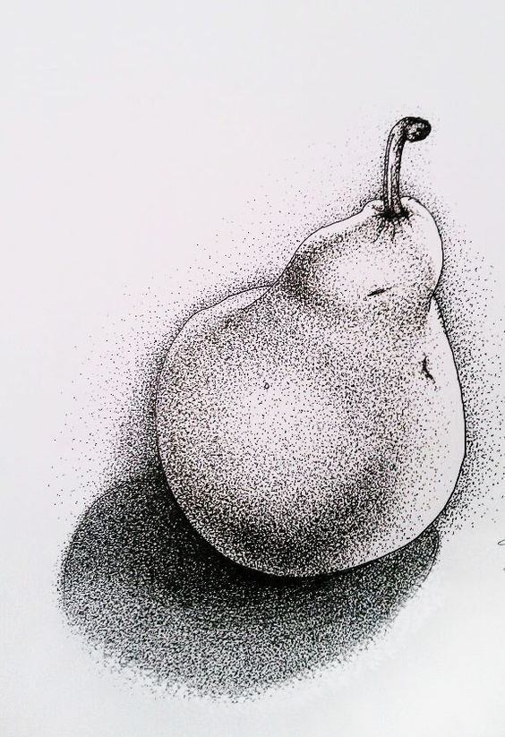 Line Drawing Fallacy Example : Simple yet intense stipple art to help you see the details