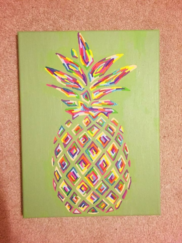 40 diy canvas craft ideas to kill time bored art for Easy to do canvas art