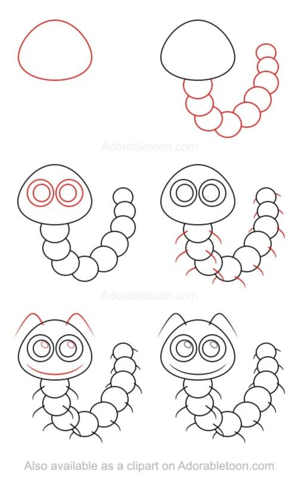 How to draw doodles 40 step by step charts bored art for How to draw doodles step by step