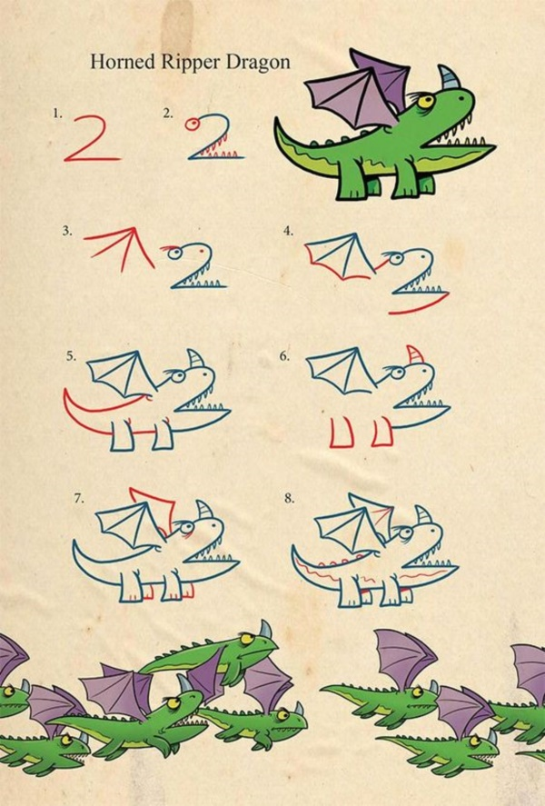 how to draw letters into animals