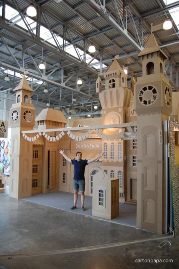 40 incredible examples of cardboard city art bored art. Black Bedroom Furniture Sets. Home Design Ideas