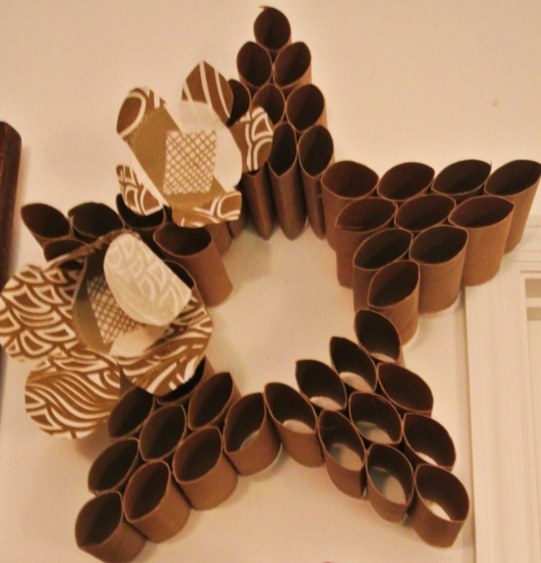 Wall Decor Made From Toilet Paper Rolls