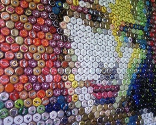 Bewitching and beautiful bottle cap art bored art for How to use bottle caps