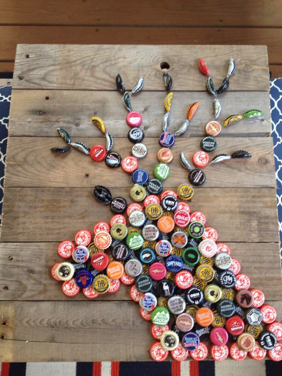 Bewitching and beautiful bottle cap art bored art for Cool beer cap ideas