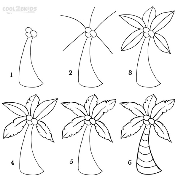 How To Draw A Tree (Step By Step Image Guides