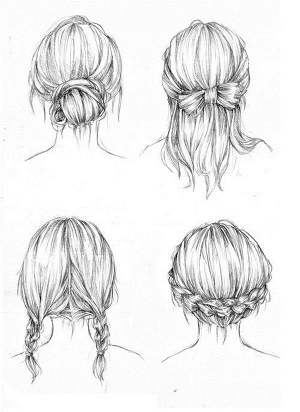 how to draw shoulder hair step by step