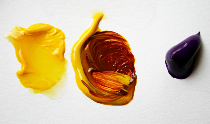 How to mix acrylic paints learn with us bored art for How to make yellow paint