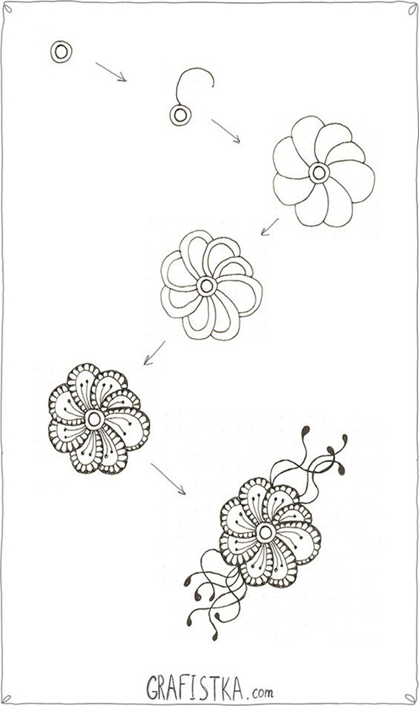 Step By Step Decorating Living Room: How To Draw Doodles (Step By Step Image Guides