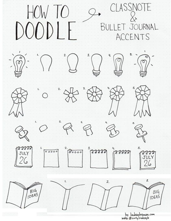 how to draw doodles step by step
