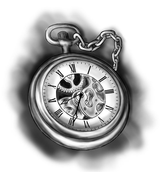 The art of pretty and classical pocket watch designs for Pocket watches tattoos